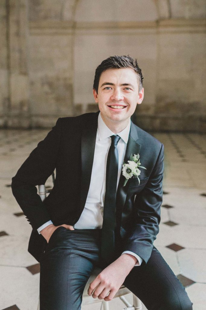 black suit for groom style inspiration